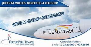 Pasajes aéreos a Madrid desde Lima en oferta Plus Ultra