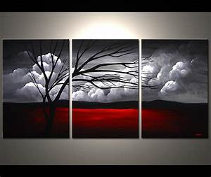 Painting - multi panel canvas clouds #3807
