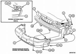 1996 Mercury Grand Marquis Front End Diagram