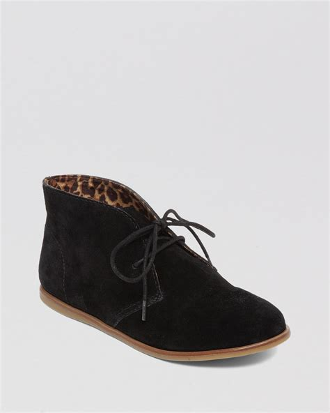 Flat Bootie by Lucky Brand Lace Up Flat Booties Asherr In Black Lyst
