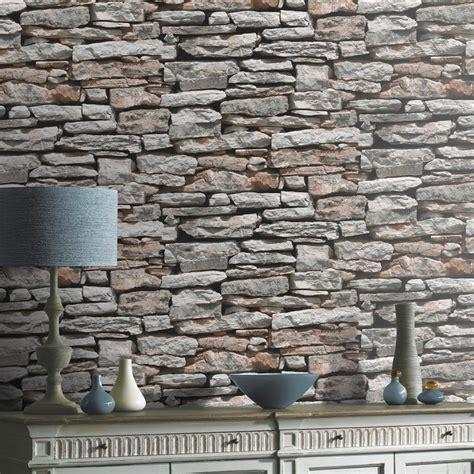 New Brick Effect Faux Realistic Brick Stone Wall Pattern Photo Mural Wallpaper Ebay