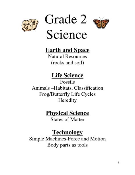 free printable science for grade 2 science to teach