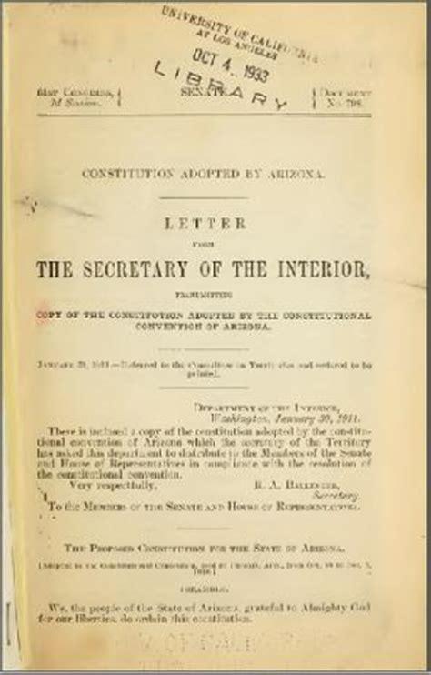 arizona state constitution   original document
