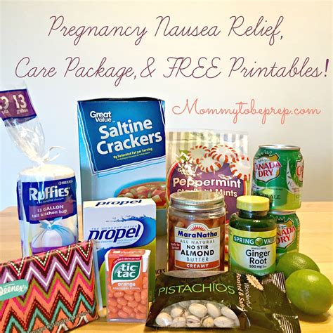 Pregnancy Nausea Relief Care Package Free Printables