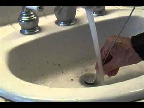 Cleaning A Bathroom Sink Drain by Clear Bathroom Sink Drain With Pipe Cleaner