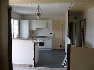Casser Une Cloison : casser mur cuisine resine de protection pour peinture ~ Farleysfitness.com Idées de Décoration