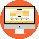 Landing Web Development Icon Website Webpage Layout