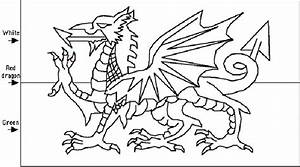 Picture Of The Welsh Flag To Colour The Childminding Shop