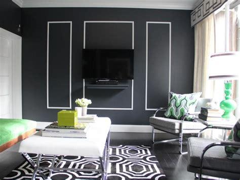 Bilder Wohnzimmer Schwarz Weiss by Moderne Wohnzimmer Wandgestaltung In Schwarz Und Wei 223