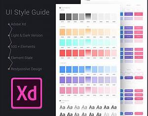 Designing Websites For Iphone X Adobe Xd Ui Style Guide Template Freebie Supply