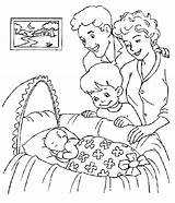 Parents Coloring Obeying Colouring sketch template