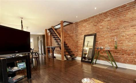 living room small and wooden staircases brick wall design 29 eposed brick wall ideas for living rooms decor