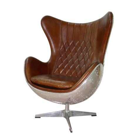 deco pour chambre ado fille fauteuil vintage en cuir marron harbor maisons du monde