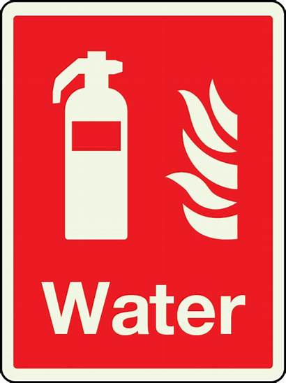 Fire Water Sign Extinguisher Safety Symbol Text