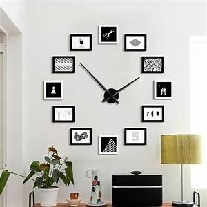 Grande Horloge Murale Design : grande horloge murale design moderne 12 photo cadre ~ Nature-et-papiers.com Idées de Décoration