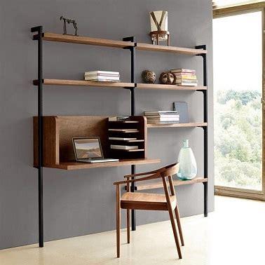 bureau etagere design un aménagement bureau étagères bois design la redoute