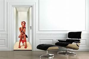 Deco Porte Interieure En Trompe L Oeil : sticker porte trompe l 39 oeil wc izoa ~ Carolinahurricanesstore.com Idées de Décoration