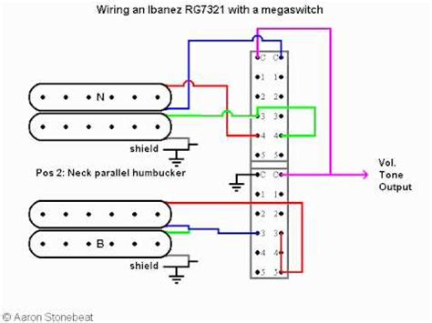 basic guitar electronics xvii using a megaswitch to wire an ibanez rg 7321 320