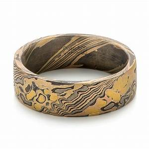 custom mokume wedding band 103373 With mokume wedding rings