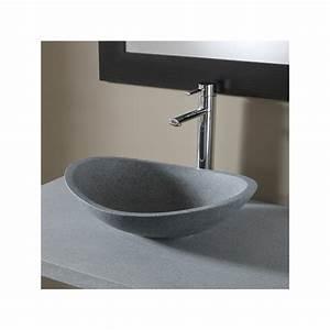vasque ovale salle de bain vasques en pierre naturelle grise With vasque salle de bain ovale
