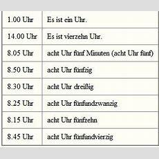 Uhrzeit Schreiben  Ich Liebe Deutsch Pinterest