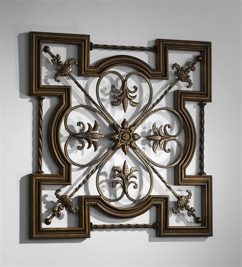 metal wall accents wrought iron wall by cyan design 4099