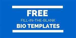writing tips biotemplatescom With free bio template fill in blank