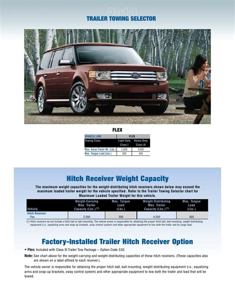 ford flex towing guide specifications capabilities