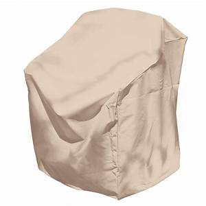 Shop elemental tan polyester dining chair cover at lowescom for Elemental outdoor furniture covers