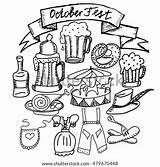 Lederhosen Oktoberfest Coloring Pages Vector Template sketch template