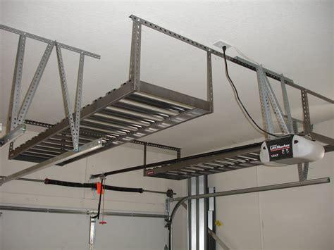 home depot garage hanging ceiling diy custom overhead garage storage rack