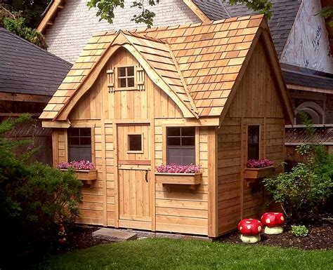cottage playhouse cedar playhouse with loft 9x9 outdoor living today