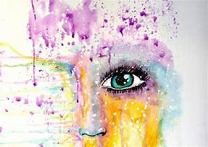 Abstract Watercolor Face | www.pixshark.com - Images ...