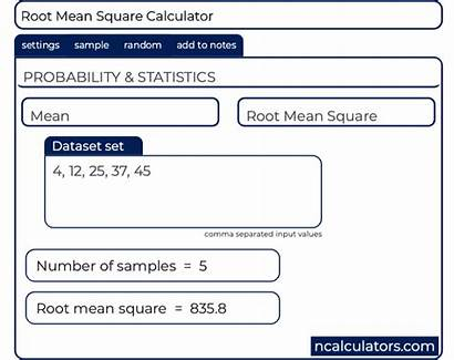 Mean Root Square Calculator Value Statistics Rms