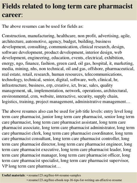 top 8 term care pharmacist resume sles