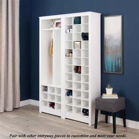 Space Saving Shoe Cabinet by Prepac Space Saving Shoe Storage Cabinet White Wusr 0009 1