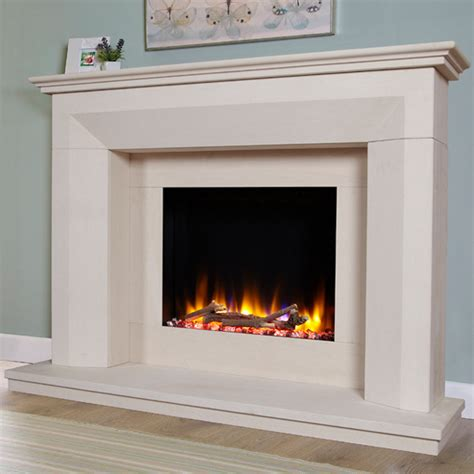 celsi ultiflame vr lille limestone electric fireplace