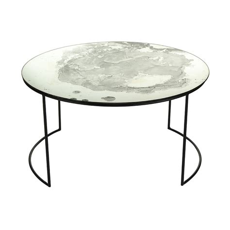Buy A By Amara Iridescent Glass Round Table  Coffee Table
