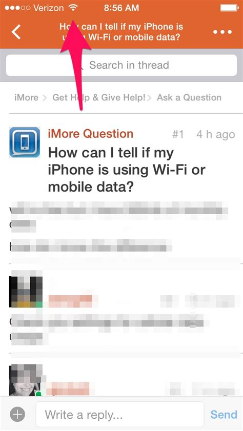 how can i to my iphone how can i tell if my iphone is using wi fi or mobile data