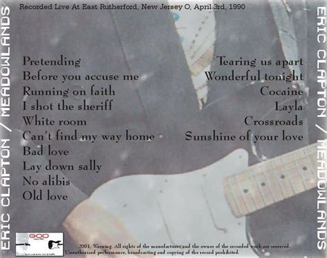 eric clapton quot can t find my way home quot guitar tab eric clapton meadowlands 1990 New