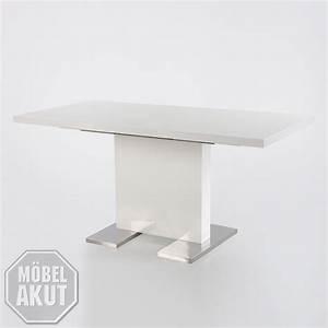 Tisch Ausziehbar Weiß : esstisch pamela tisch wei hochglanz edelstahl ausziehbar 120 160 x80 cm ebay ~ Whattoseeinmadrid.com Haus und Dekorationen
