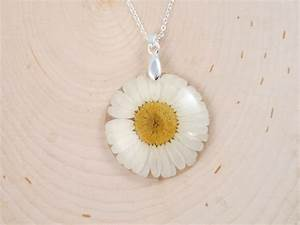 Real flower resin necklace Pressed Flowers Jewelry Real