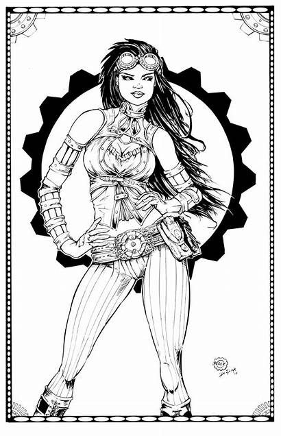 Lady Mechanika Deviantart Ink Coloring Devgear Pages