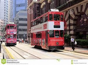Hong kong streetcar editorial stock photo. Image of ...