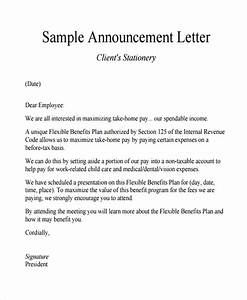 Sample Announcement Letter Template - 9+ Free Documents ...