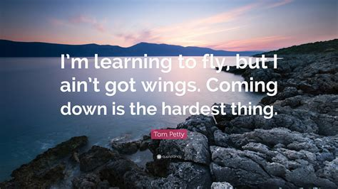 tom petty quote i m learning to fly but i ain t got