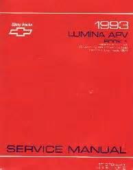 service manuals schematics 1993 chevrolet lumina apv regenerative braking 1993 chevrolet lumina apv factory service manual 2 volume set