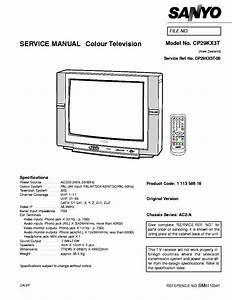 Sanyo Ac2a Chassis Cp29kx3t Tv Sm Service Manual Download