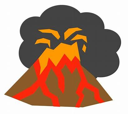 Volcano Clipart Clip Erupting Animated Animation Cliparts