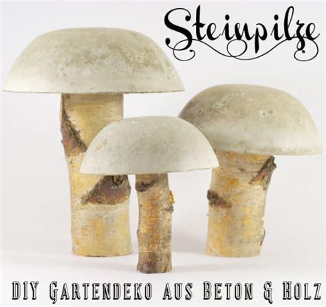 Pilze Für Garten Basteln by Steinpilze Aus Beton Handmade Kultur